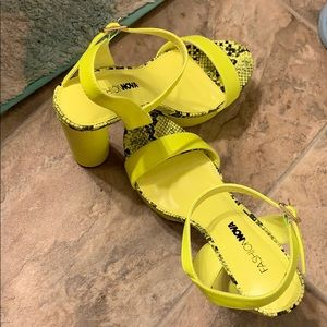 Fashion nova lime yellow heels